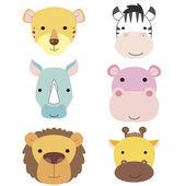 Cute animal head icon01
