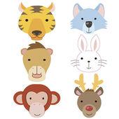 Cute animal head icon06