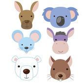 Cute animal head icon03