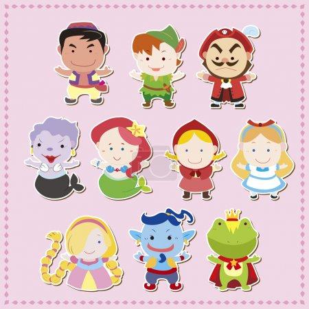 Cartoon story icons