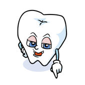 Vtipné kreslené zub