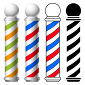 Illustration of barber shop pole set vector