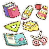 School set set of different school items vector illustration
