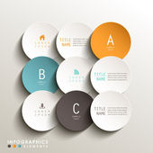 Realistic vector abstract 3d round tag infographic elements