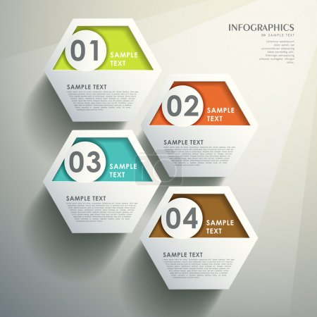 Illustration for Modern vector abstract hexagonal infographic elements - Royalty Free Image