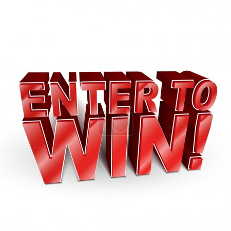 3d illustration of the words Enter to Win