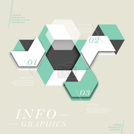 Illustration for Modern vector abstract hexagon infographic elements - Royalty Free Image