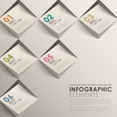 Modern vector abstract 3d infographic elements