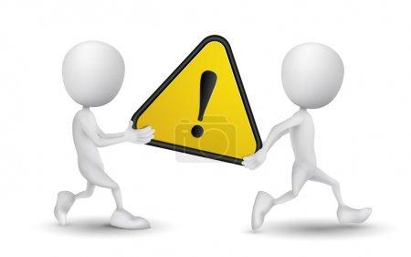 Illustration pour Deux personnes effectué un signe d'avertissement - image libre de droit