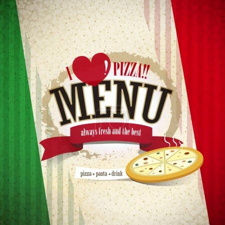 Illustration pour Vecteur pizzeria menu brochure couverture conception modèle - image libre de droit