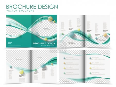 Illustration for Template of brochure design with spread pages - Royalty Free Image