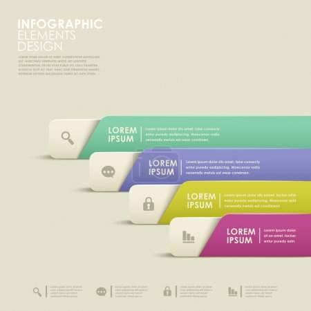 Illustration for Modern vector abstract colorful banner infographic elements - Royalty Free Image