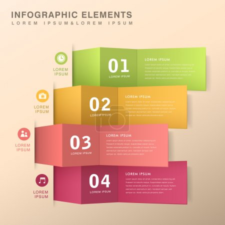 Illustration for Modern vector abstract origami banner infographic elements - Royalty Free Image