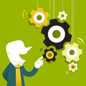 flat design illustration concept for strategy