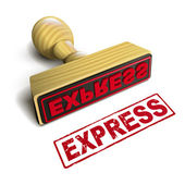 Stamp express with red text on white