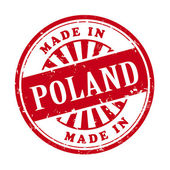 Illustration of grunge rubber stamp with the text made in Poland written inside