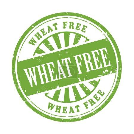 wheat free grunge rubber stamp