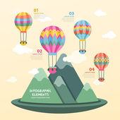 Hot air balloon infographics design