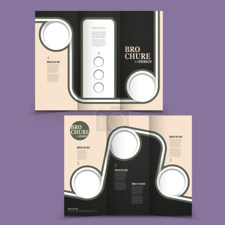 Vector brochure layout design template