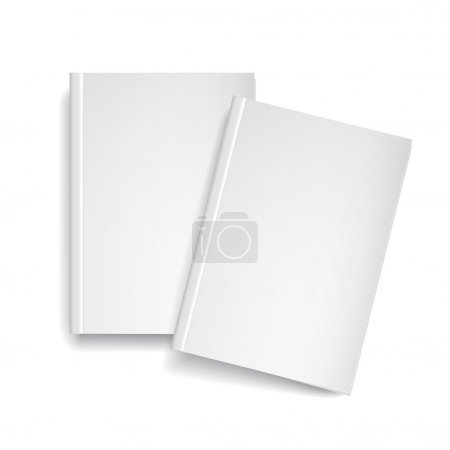 Illustration for 3d modern vector blank magazine template on white background - Royalty Free Image