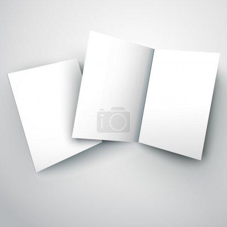 Vector illustration of blank white folded paper