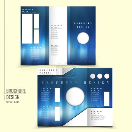 vector tri-fold futuristic style brochure layout design template
