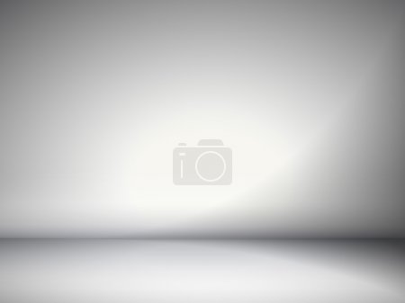 Illustration for Abstract illustration background texture of gray wall, flat floor in empty room. - Royalty Free Image