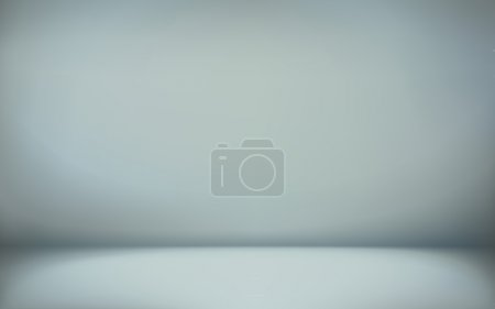 Illustration for Abstract illustration background texture of cyan wall, flat floor in empty room. - Royalty Free Image