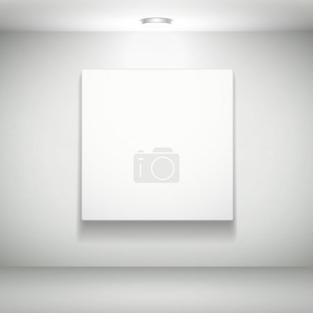 blank white picture on white wall