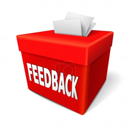 feedback box words on the red box