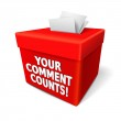 Your comment counts words on the red box with note...