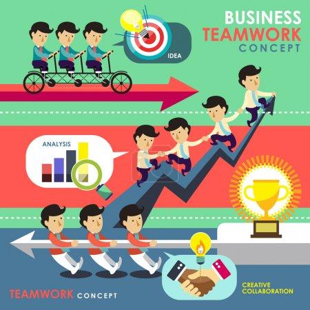 business teamwork concept in flat design