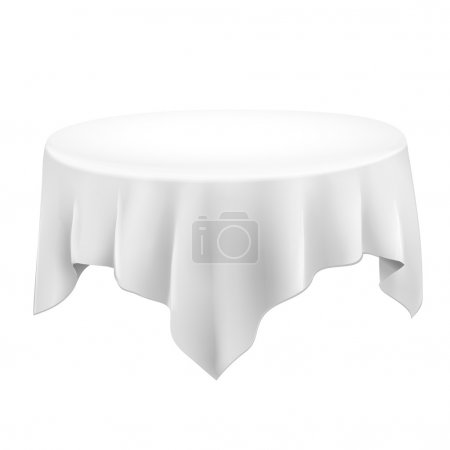 close up of a blank tablecloth