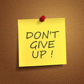 do not give up words on post-it