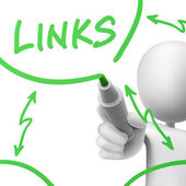 links concept drawn by a man