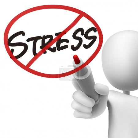 Illustration for No stress drawn by a man over white background - Royalty Free Image