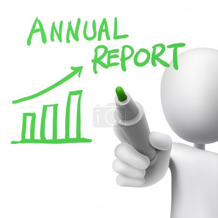 annual report written by a man