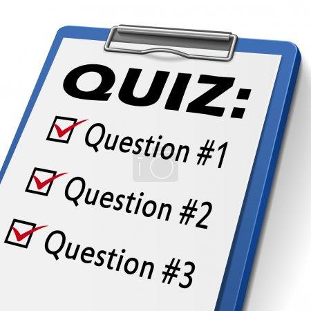 Quiz clipboard