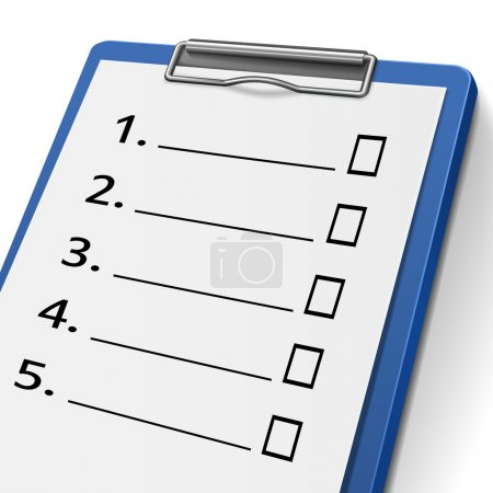 Blank checklist clipboard with check boxes on it...
