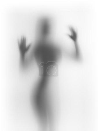 Photo pour Le corps humain pâlit derrière une surface diffuse - image libre de droit