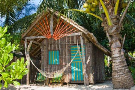Tropical house on the beach