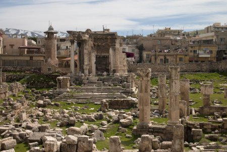 Ruins of the temple of Venus, Baalbek, Lebanon. Se...