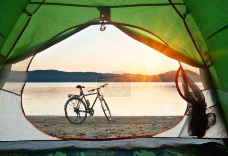 bike on the shore