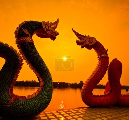 Sunset and dragon Serpent