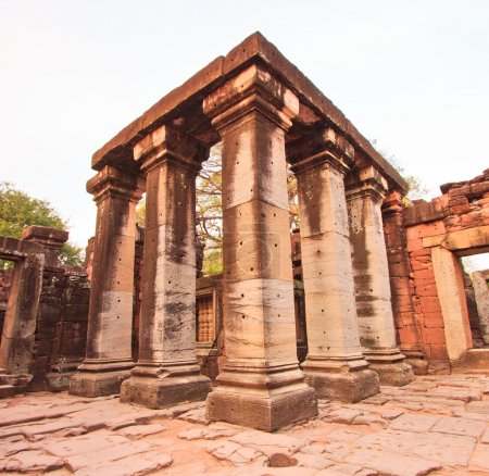 Photo for Old town Phimai Historical Park, Ancient city of Thailand. - Royalty Free Image