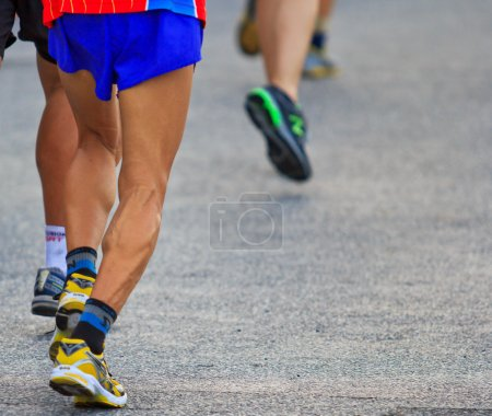 Photo for Runner running and marathon in city - Royalty Free Image
