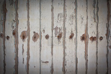 Photo for Wooden background, white wooden door - Royalty Free Image
