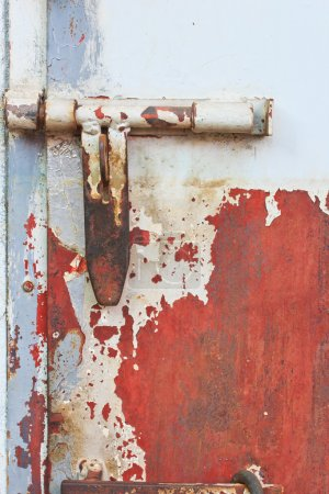 Photo for Old bolts and bolt rustic and rusted door - Royalty Free Image