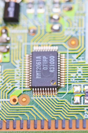 Photo for Close-up of electronic circuit board. Macro and remote - Royalty Free Image
