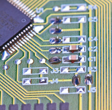 Electronic circuit board.